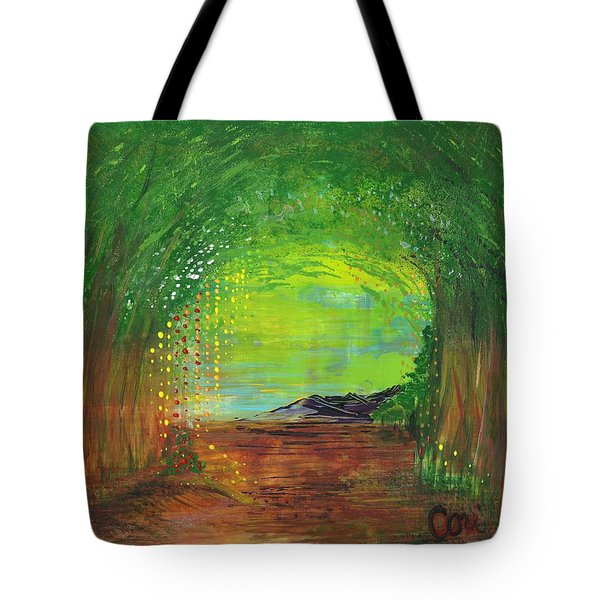 Luminous Path Tote Bag