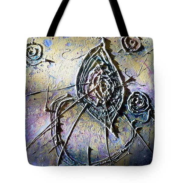 Tote Bag featuring the painting Luminous  by 'REA' Gallery