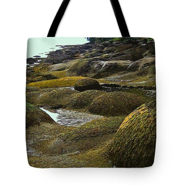 Lumps And Bumps Along Gabriola's Shoreline Tote Bag by Anne Havard