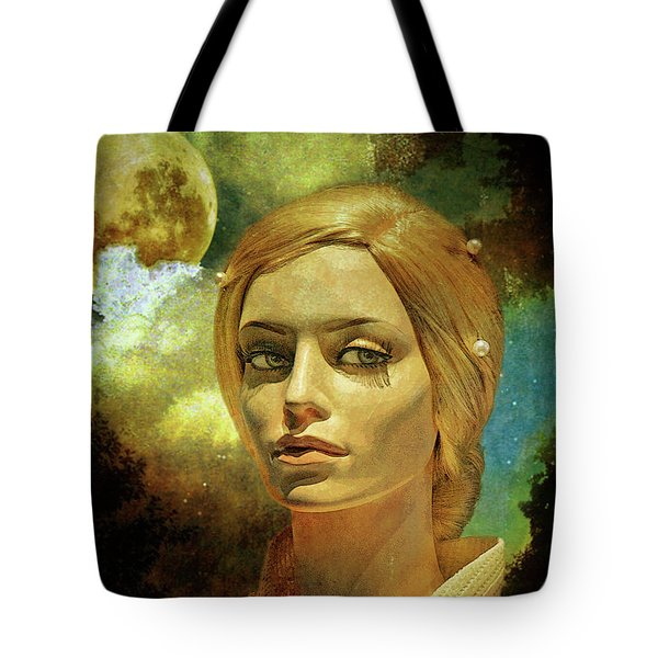 Luna In The Garden Of Evil Tote Bag