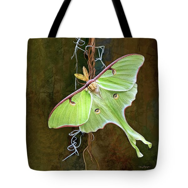 Luna Moth Tote Bag by Thanh Thuy Nguyen