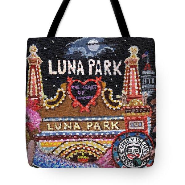 Luna Park Tote Bag by Bonnie Siracusa