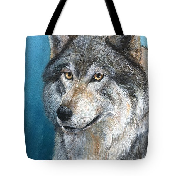 Tote Bag featuring the painting Luna by Sherry Shipley