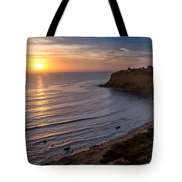 Lunada Bay Sunset Tote Bag