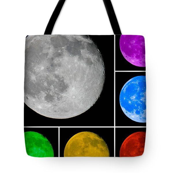 Lunar Color Shots 01 Tote Bag