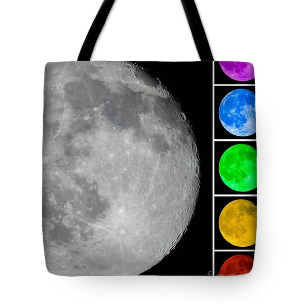 Lunar Color Shots 02 Tote Bag