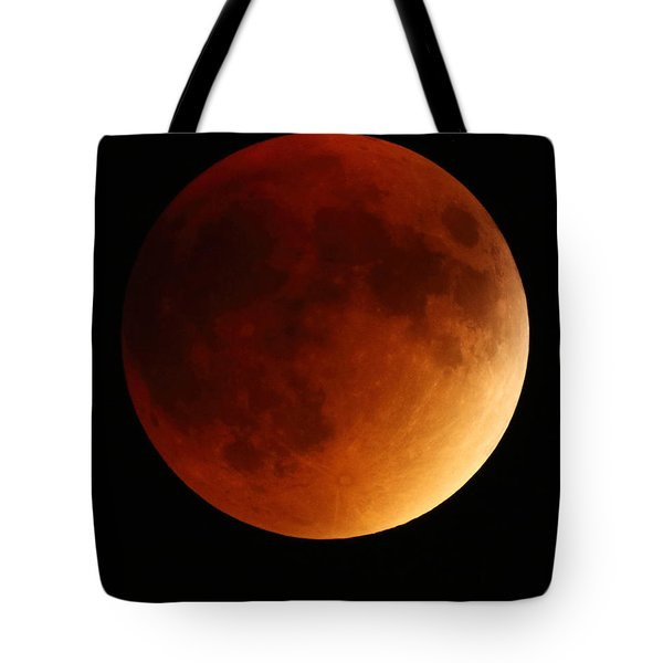 Tote Bag featuring the photograph Lunar Eclipse 1 by Coby Cooper