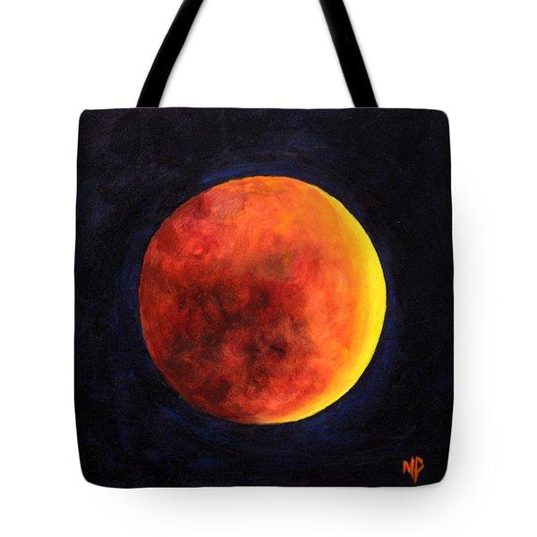 Lunar Eclipse Tote Bag by Marina Petro