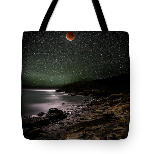 Lunar Eclipse Over Great Head Tote Bag