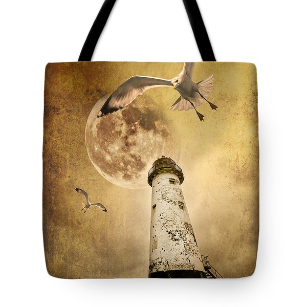 Tote Bag featuring the photograph Lunar Flight by Meirion Matthias