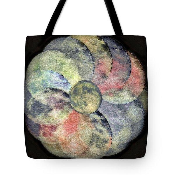 Lunarplex  2 - Blue Harvest Moon Multiplied Tote Bag