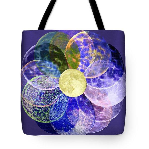 Lunarplex - Blue Harvest Moon Multiplied Tote Bag
