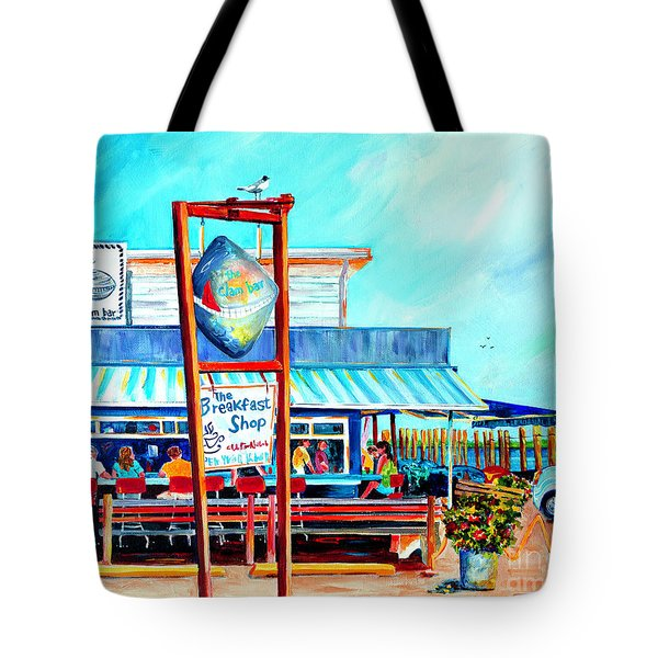 Lunch At The Clam Bar Tote Bag