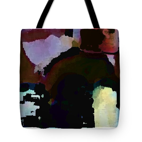 Tote Bag featuring the painting Lunch Counter by Steve Karol