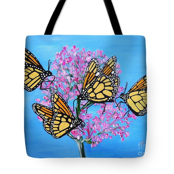 Butterfly Feeding Frenzy Tote Bag