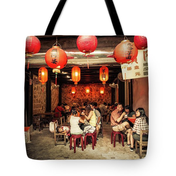 Tote Bag featuring the photograph Lunch by Geoffrey C Lewis