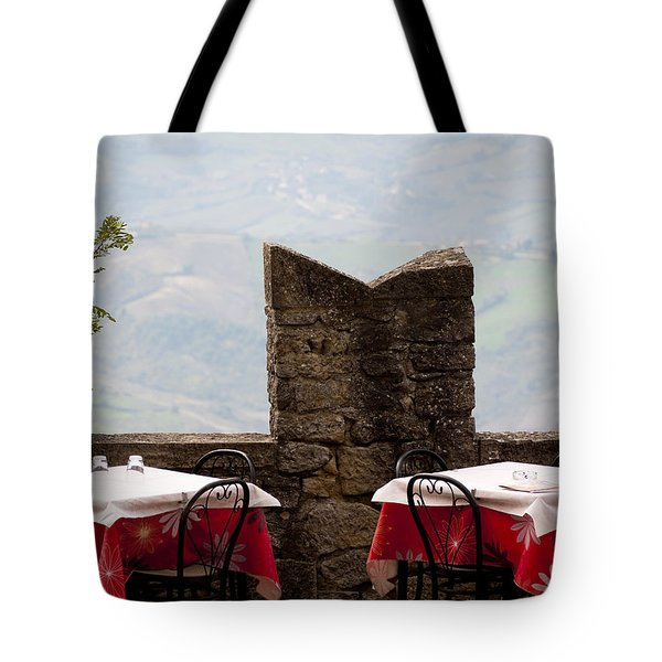 Lunch With A View Tote Bag by Rae Tucker