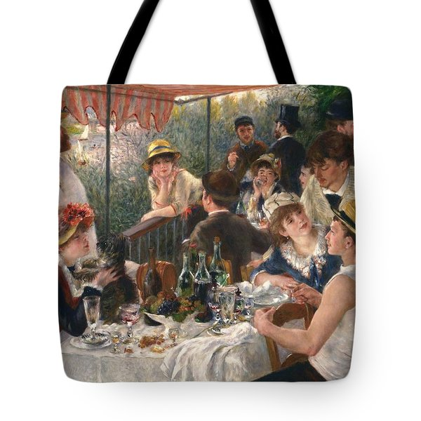 Luncheon Of The Boating Party By Renoir Tote Bag