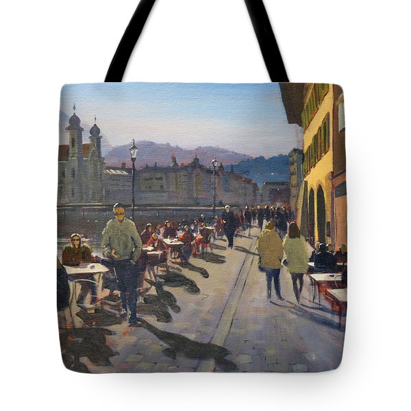 Lunchtime In Luzern Tote Bag