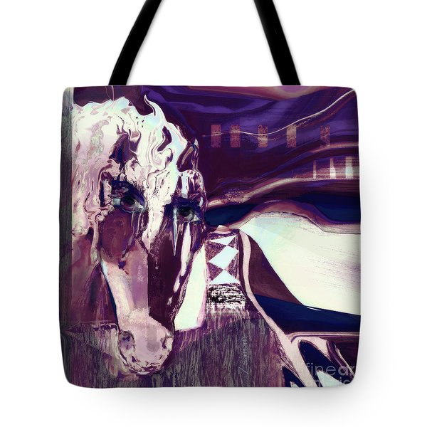 Lungta Windhorse No 5 Tote Bag