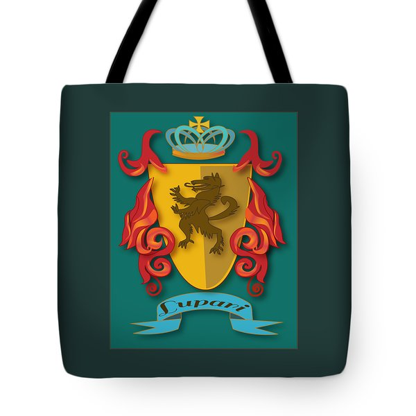 Lupari Family Crest Tote Bag