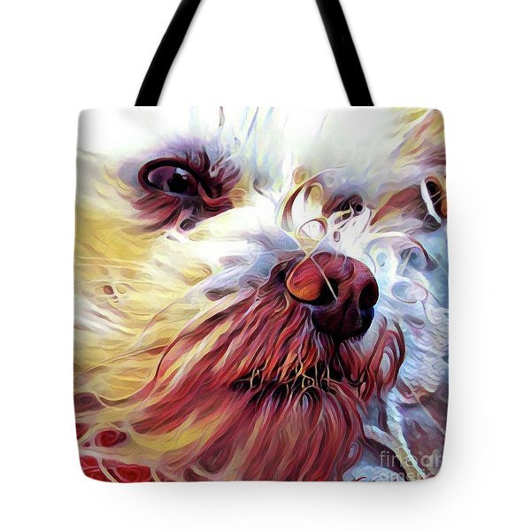Tote Bag featuring the digital art Lupi by Judy Morris