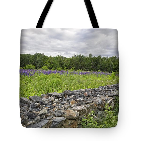 Lupine Field - Sugar Hill New Hampshire  Tote Bag