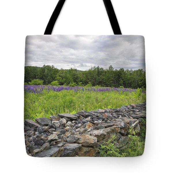 Lupine Field - Sugar Hill New Hampshire  Tote Bag