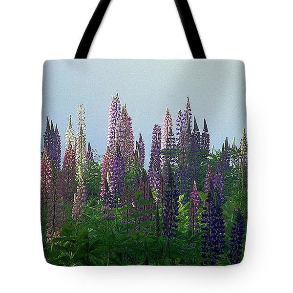 Lupine In Morning Light Tote Bag