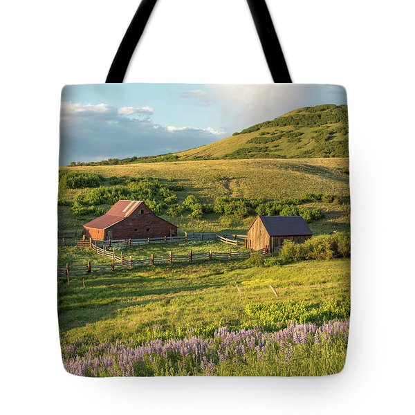 Lupine In The Field Tote Bag