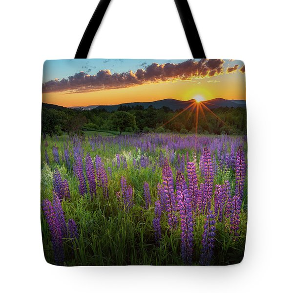 Tote Bag featuring the photograph Lupine Lumination by Bill Wakeley