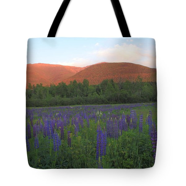 Lupine Meadow And Northern Presidentials White Mountains Tote Bag