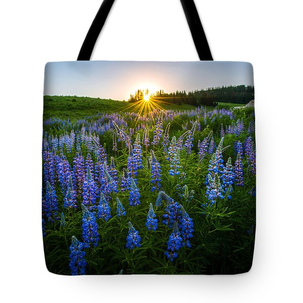Lupine Meadow Tote Bag