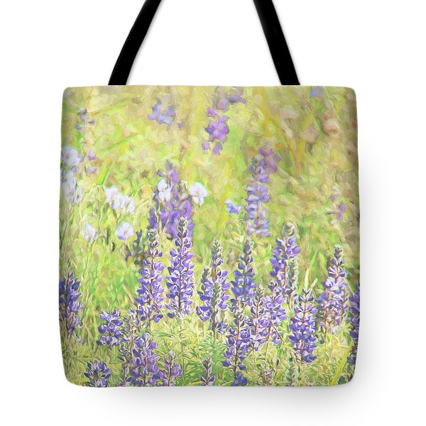 Tote Bag featuring the photograph Lupine Wildflowers Montana by Jennie Marie Schell