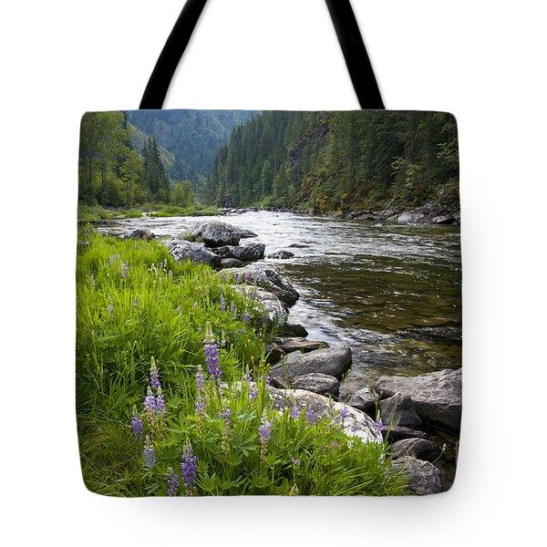 Lupines At Dawn Tote Bag