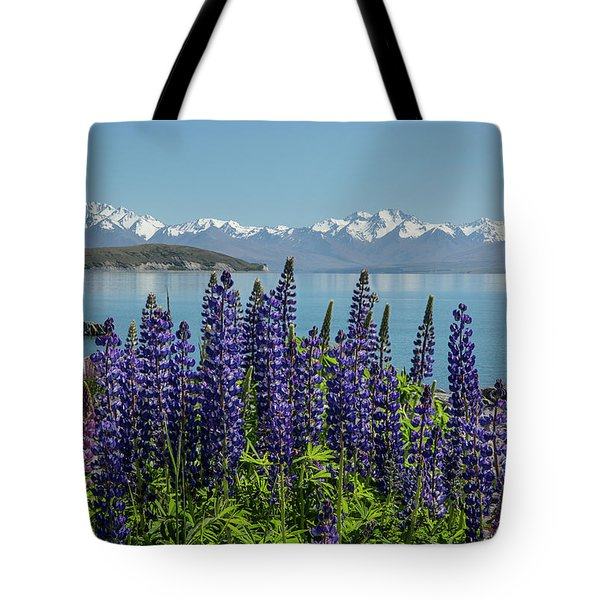 Lupines At Lake Tekapo Tote Bag