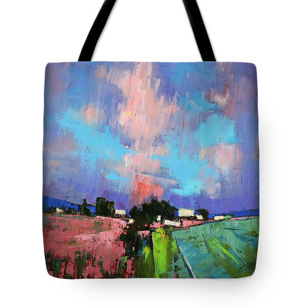 Lupines Color Tote Bag