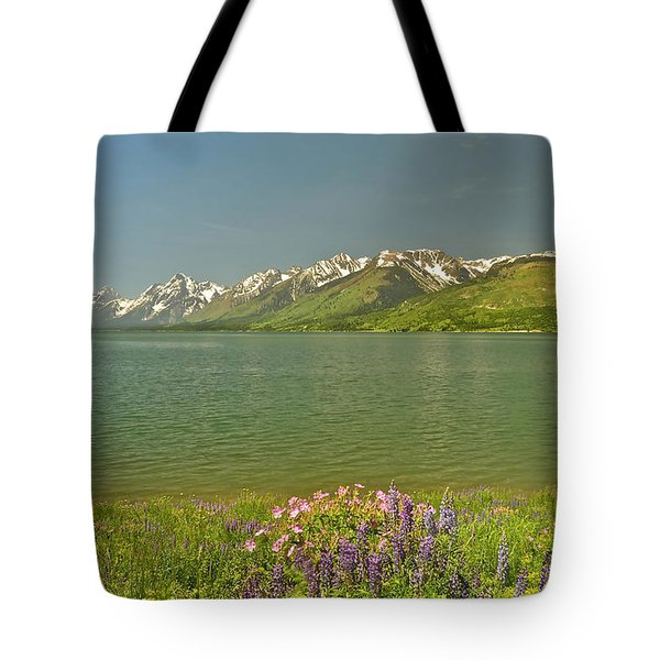Lupines In The Tetons Tote Bag