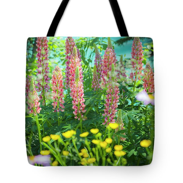 Tote Bag featuring the photograph Lupines by Mark Mille