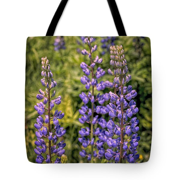Tote Bag featuring the photograph Lupines On The Interstate by Tom Singleton