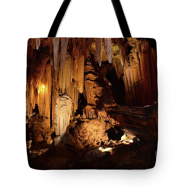 Tote Bag featuring the photograph Luray Dark Caverns by Paul Ward