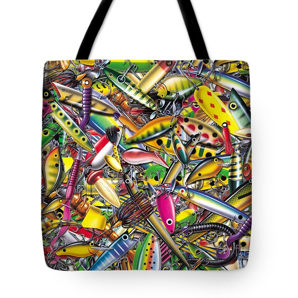 Lure Collage Tote Bag