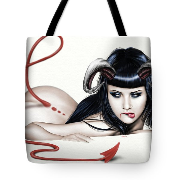 Lure Of La'mia Tote Bag by Pete Tapang