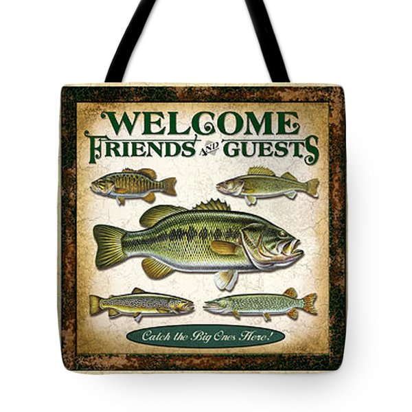 Lure Three Piece Panels Tote Bag