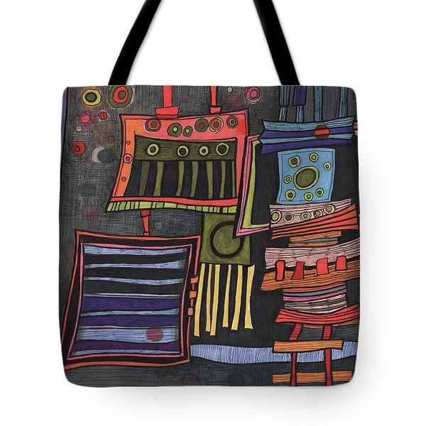 Lurking Under The Bed Tote Bag by Sandra Church