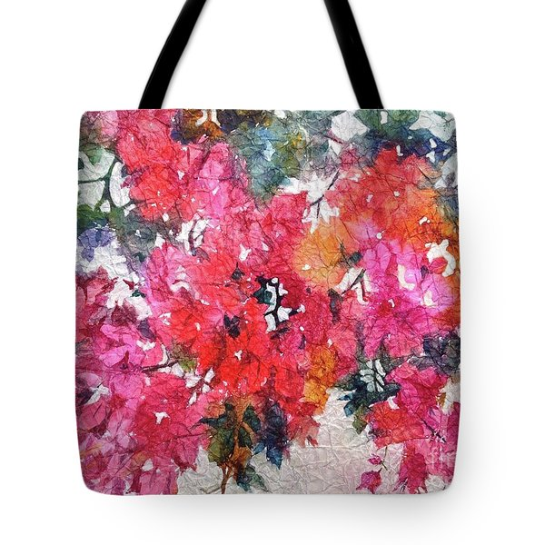 Tote Bag featuring the painting Luscious Bougainvillea by Michelle Abrams