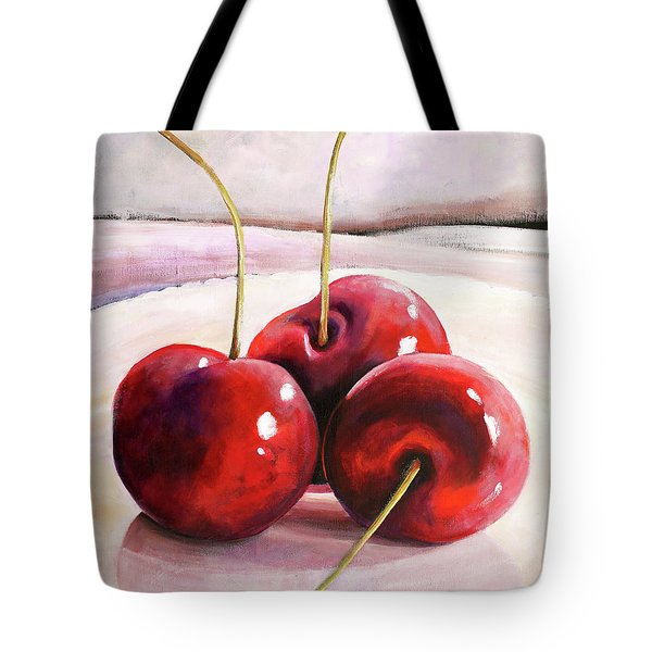 Luscious Cherries Tote Bag by Toni Grote