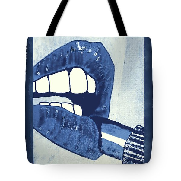 Luscious Lips Sink Ships Tote Bag