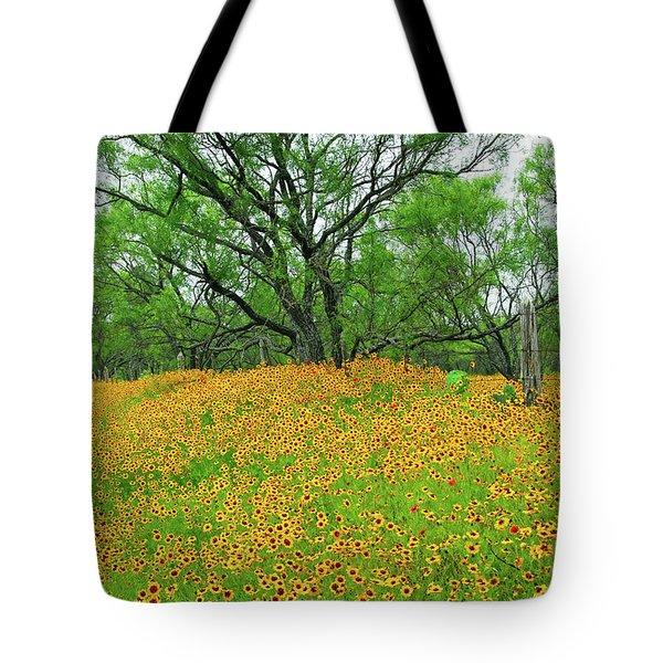 Lush Coreopsis Tote Bag by Lynn Bauer