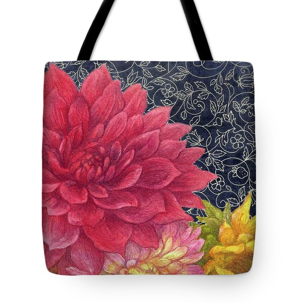 Lush Fall Botanical Tote Bag